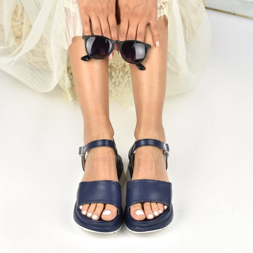 SANDALE NAVY TERRY