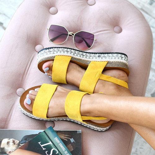SANDALE YELLOW SUEDE 2SP0-346