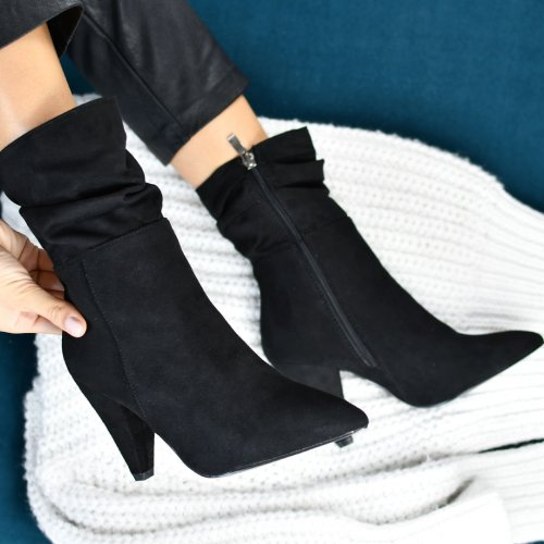 BOTINE BLACK SUEDE 5SP211