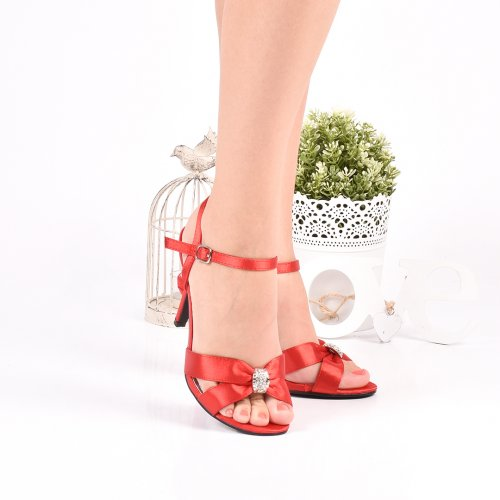 SANDALE RED SATIN 8SP2524